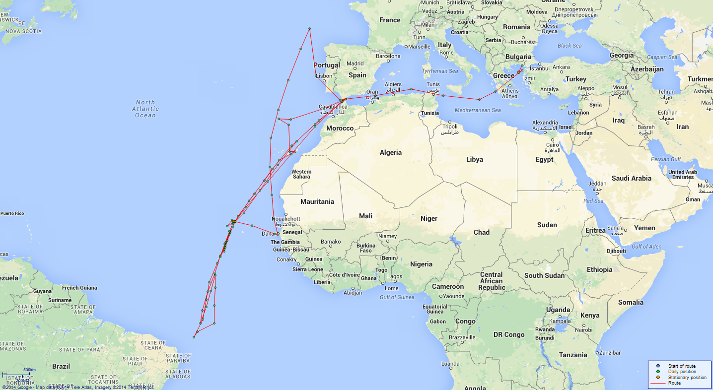 JP map Swiftsure West Africa Central Atlantic