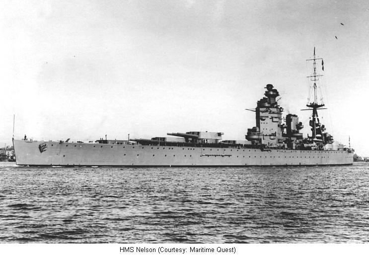 HMS Nelson, British battleship, WW2