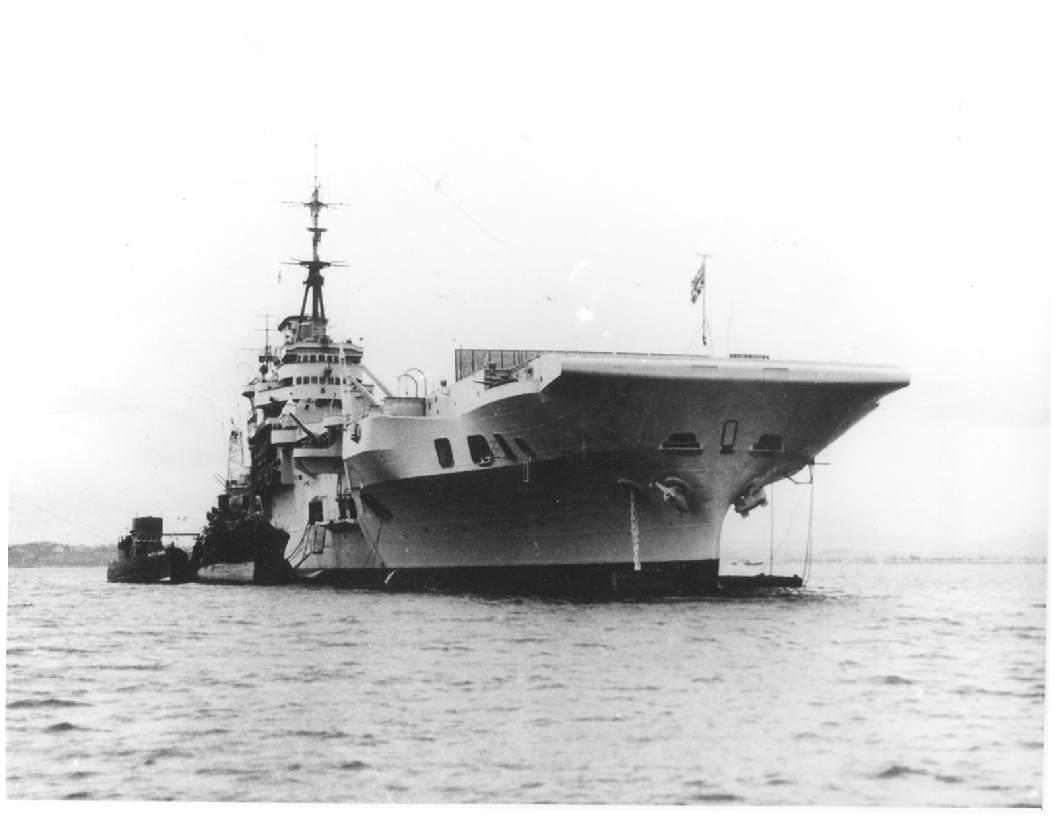 HMS Indefatigable, British fleet aircraft carrier, WW2