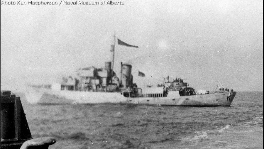 7 August 1944. Kokanee (RCN). REID, Melville J, Stoker 1c, V/69990 (RCNVR), ...