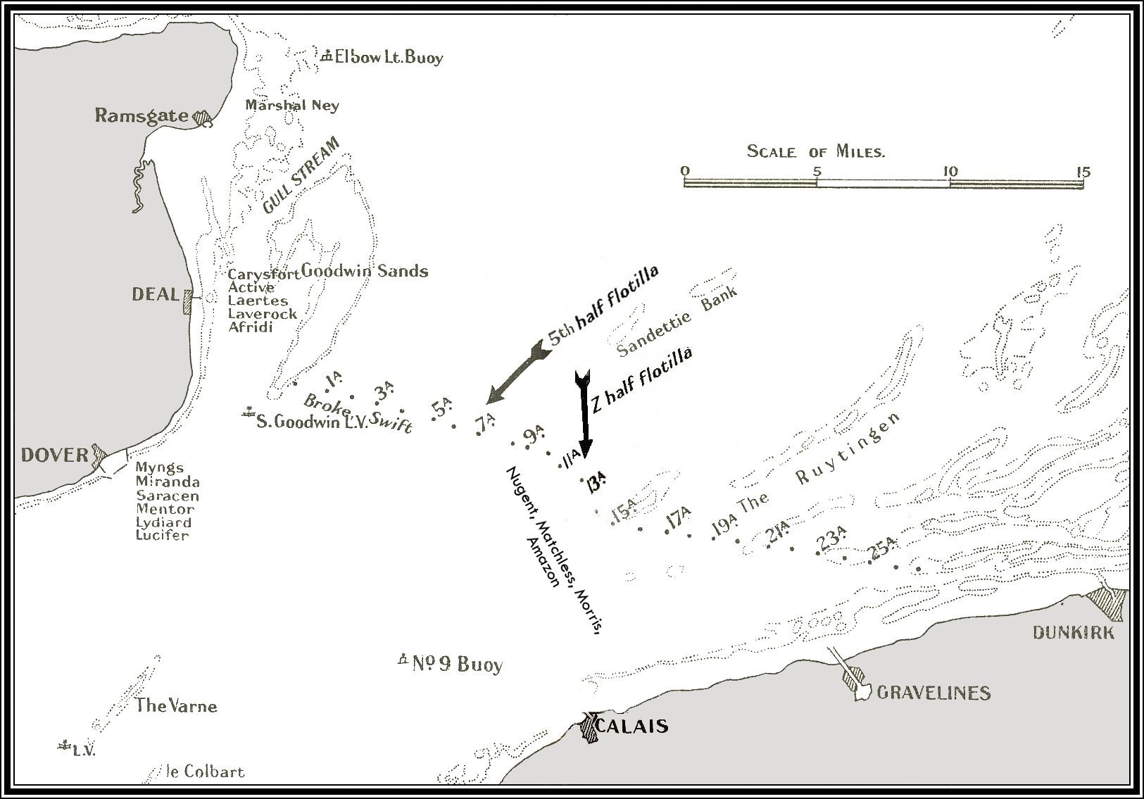 Strait Of Dover Map  Viewing Gallery