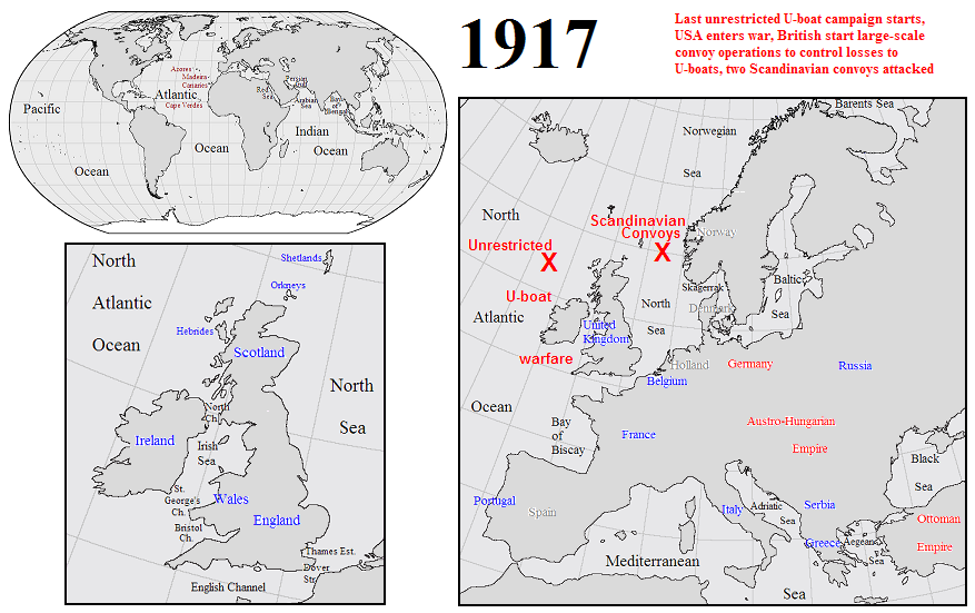 Political And Military Background To World War At Sea - 1917 1918 us in europe battles map