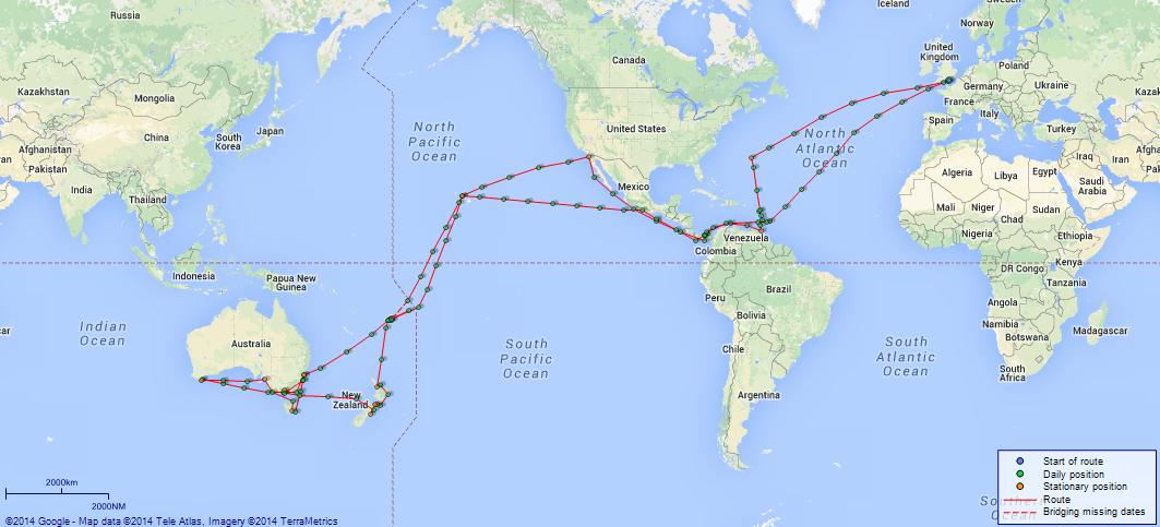 Hms renown battlecruiser british warships of world war 1 jp map renown uk to australia publicscrutiny Image collections