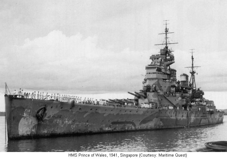 HMS Prince of Wales, British battleship, WW2