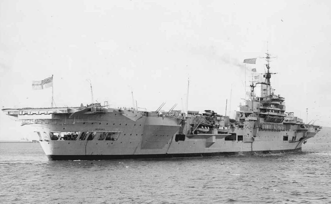HMS Implacable, British fleet aircraft carrier, WW2