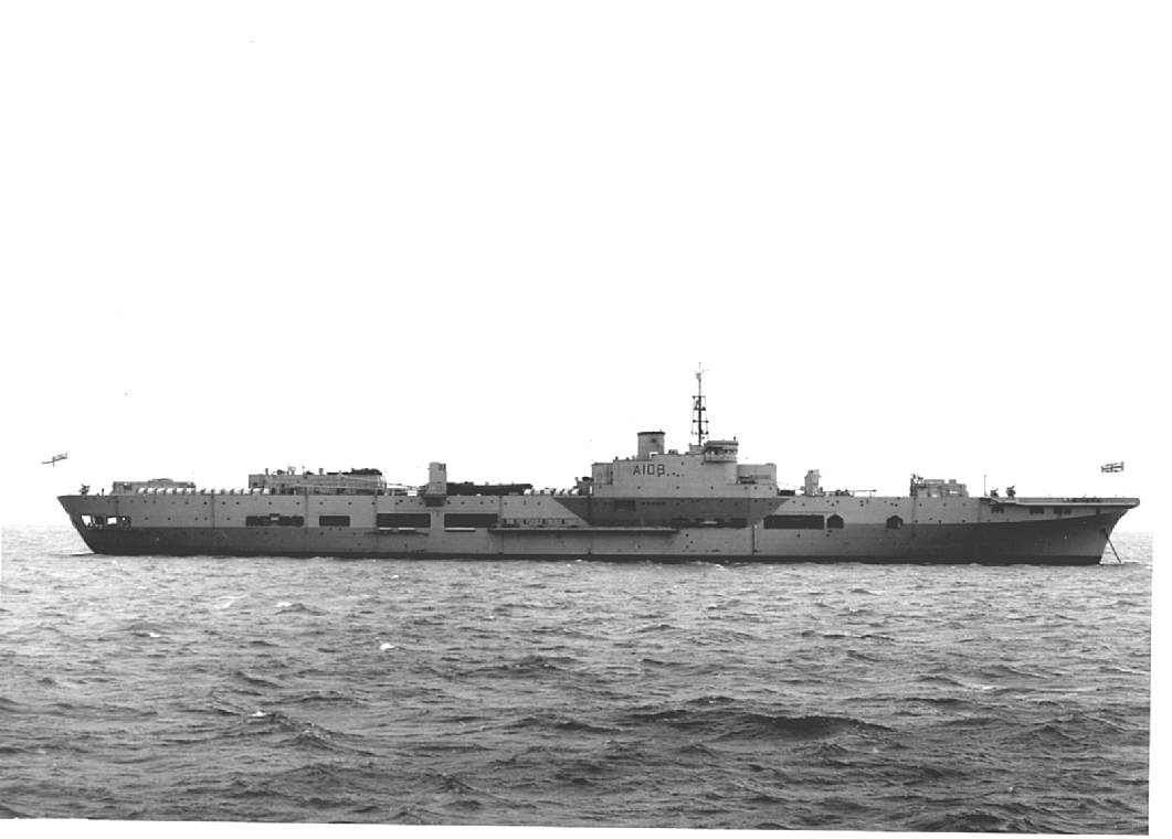 hms theseus  british light fleet aircraft carrier  post