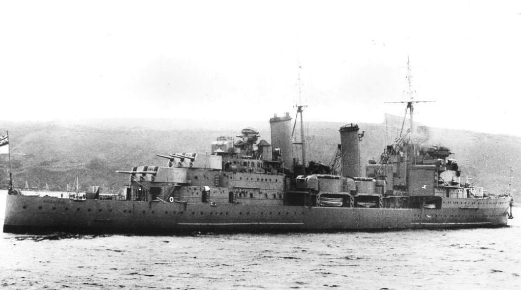 HMS Edinburgh, British light cruiser, WW2