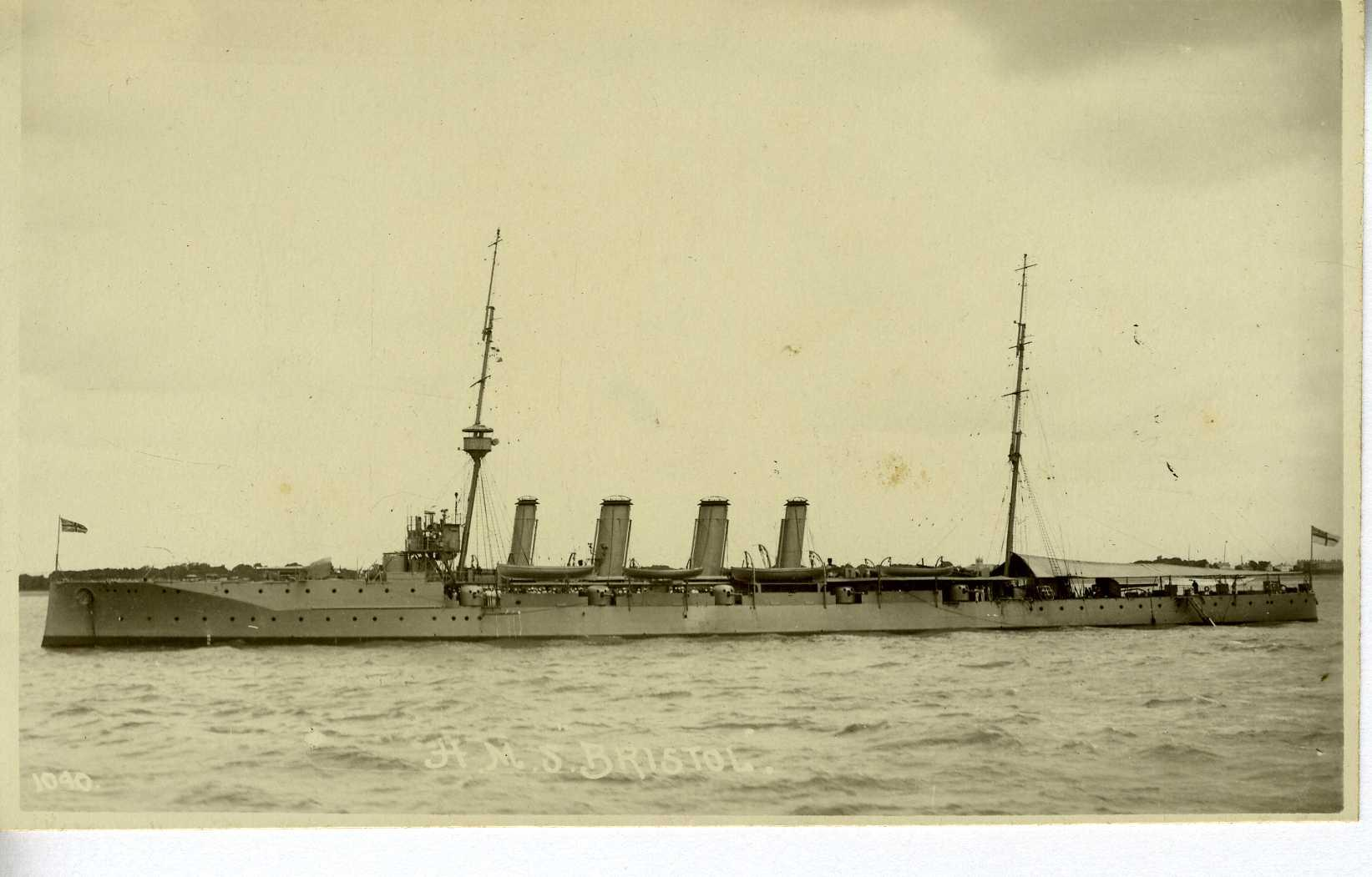HMS Bristol, light cruiser